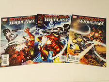IRON MAN vs WHIPLASH lot of 3 issues #1-3 (of 4) Marvel Comics 2010 VF