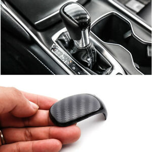 Black-Carbon-Fiber-Look-ABS-Shift-Knob-Panel-Cover-for-Honda-ACCORD-2018