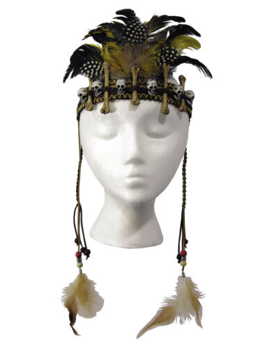 Voodoo Adult Witch Craft Costume Bone Headband Costume Headpiece