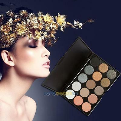 Pro 15 Color Shimmer Eye Shadow Cream Cosmetic Makeup Eyeshadow Palette Set New