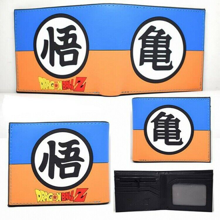 Dragon Ball Z Anime Two Fold Silicone Wallet (High Quality)   NEW