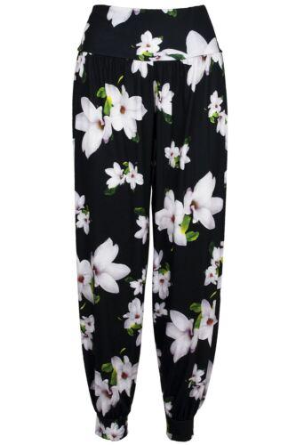 Womens Ladies Floral Ali Baba Bottoms Harem Pants Trouser Aladdin Hippy Leggings