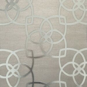 Image Is Loading Champagne With Silver Textured Geometric Wallpaper Moroccan Style