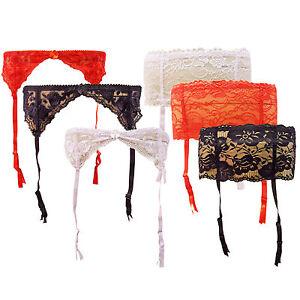 Silky lace étroite porte jarretelles