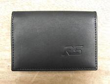 RS logo Black Leather wallet credit card size, licence / ID holder vs933