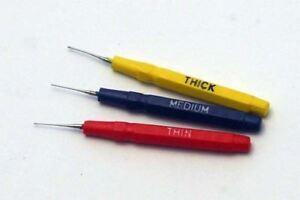 Oiler PINS Set of 3 FINE/moyen/épais Huile PINS Horlogers Horlogers Modellers  </span>