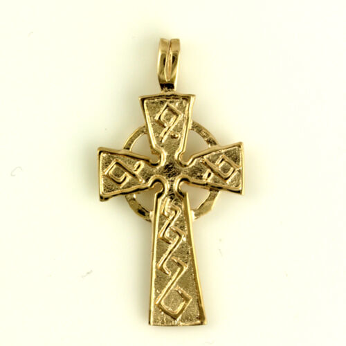 9ct Rose Gold Welsh Design Celtic Cross Pendant with or without gold Chain