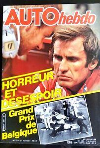 AUTO-HEBDO-267-du-21-5-1981-GP-de-Belgique-l-039-horreur-6-H-de-Silverstone