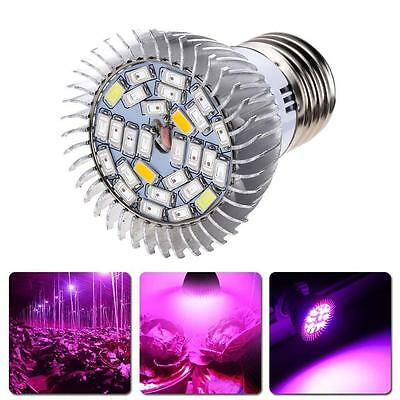 LED Plant Grow Light 28W Efficient Hydroponic Full Spectrum Growing Lamp E27 WT