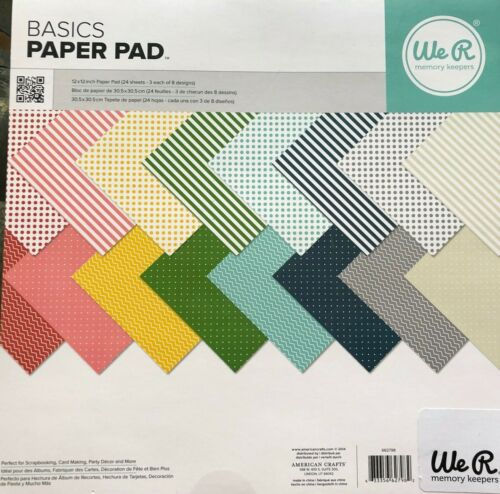 We R Memory Keepers Basics Paper Pads CHOOSE 6x6 or 12x12 NEW