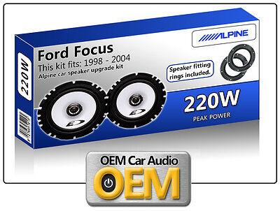 Ford Focus MK1 speaker adapter pods Front Door 17cm 6.5 fitting rings adaptors