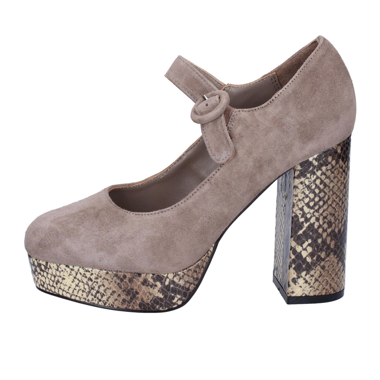 femmes chaussures EMANUELLE VEE 8 (EU 41) courts dark beige suede BX385-41