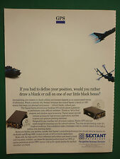 9/1992 PUB SEXTANT AVIONIQUE TOPSTAR GPS NAVIGATION SYSTEMS ORIGINAL AD
