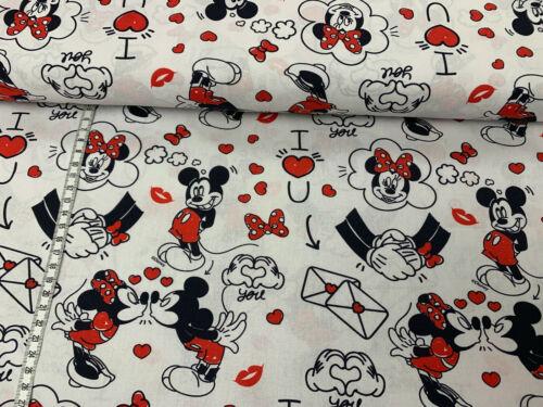 Mickey und Minnie Baumwollstoff Liebe