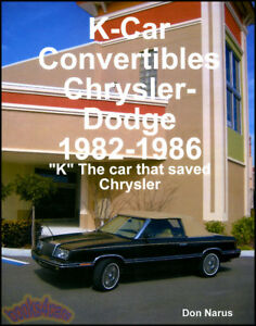 Details about CHRYSLER CONVERTIBLE BOOK NARUS LEBARON DODGE 400 600 on