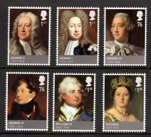 2011 GB HOUSE OF HANOVER Kings & Queens MNH Stamp Set SG3223-3228 Unmounted Mint