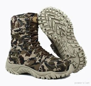 Mens-Cargo-Lace-Up-Camouflage-Millitary-Hip-Top-Shoes-combat-Boot-Outdoor-Shoes