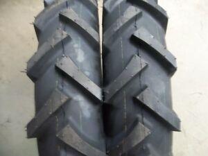 FOUR-TIRES-2-11-2X24-amp-2-7x14-R1-Bar-Lug-Tractor-Tires-w-Tubes