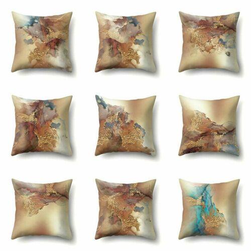 Pillow Case Marble Texture Print Sofa Square Home 45x45cm Case Home Sofa Decor