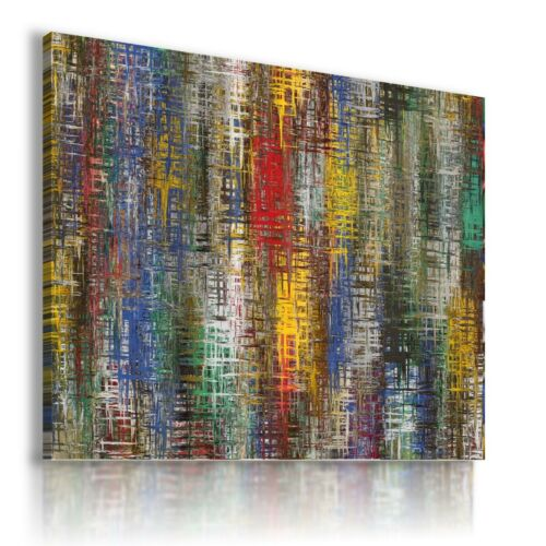 STRIPES PAINTING PRINT CANVAS WALL ART PICTURE LARGE SIZES AB644 MATAGA .