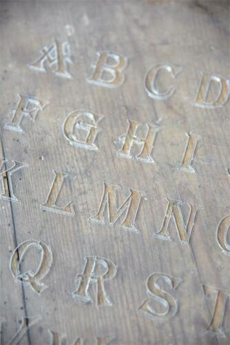 Jeanne d´Arc Living JDL Schablone Template Buchstabe shabby Stencil vintage