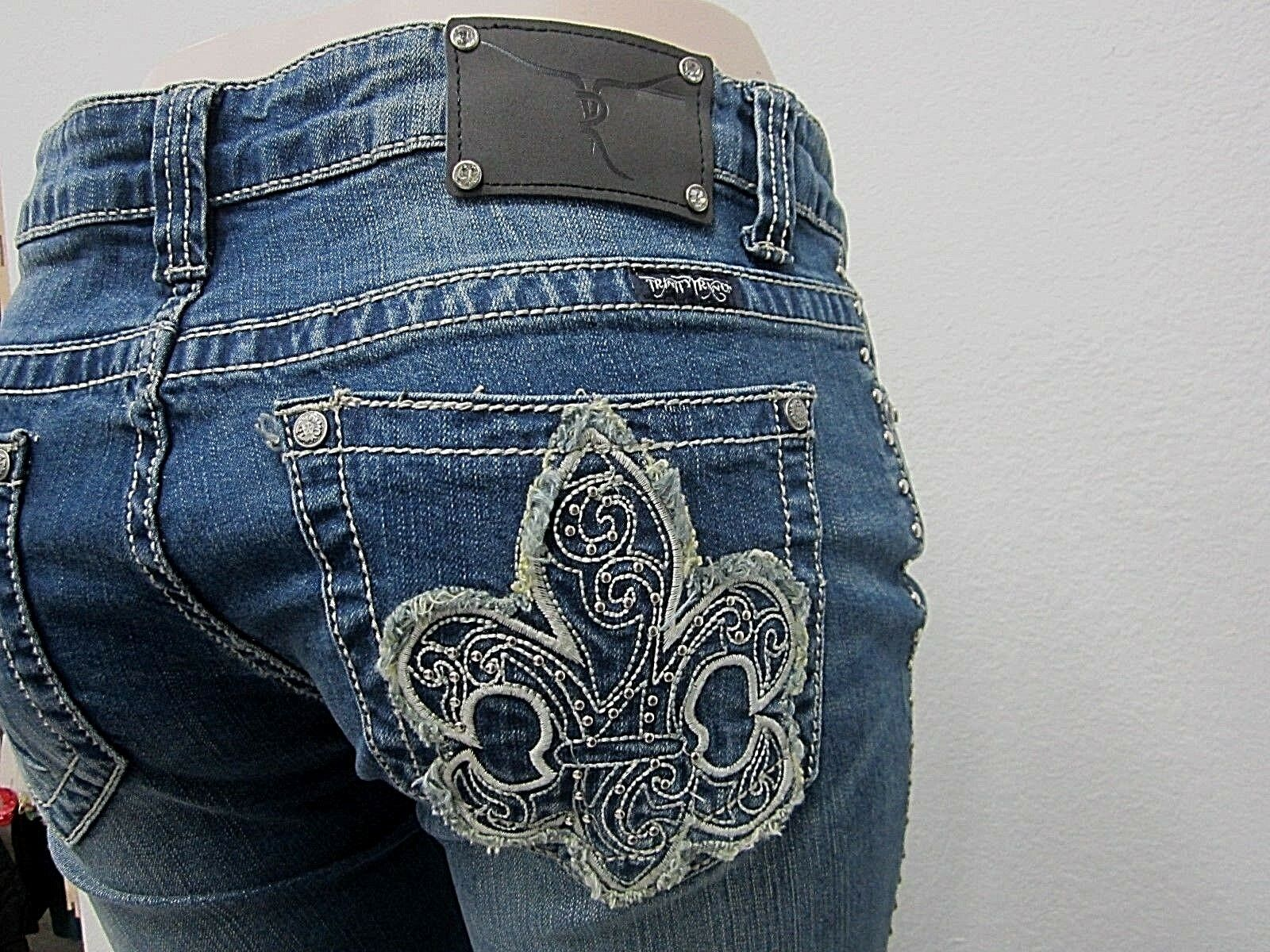 NWOT Montana West Trinity Ranch Boot Cut Jeans BLING Western Jeans 32 X 34