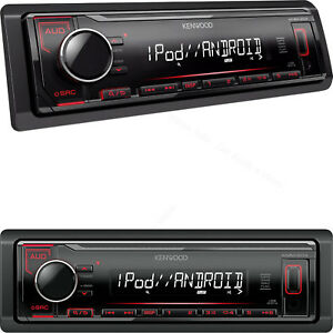 Autoradio-1-din-USB-Mp3-Rosso-Stereo-auto-Kenwood-Aux-In-Uscite-RCA-Subwoofer