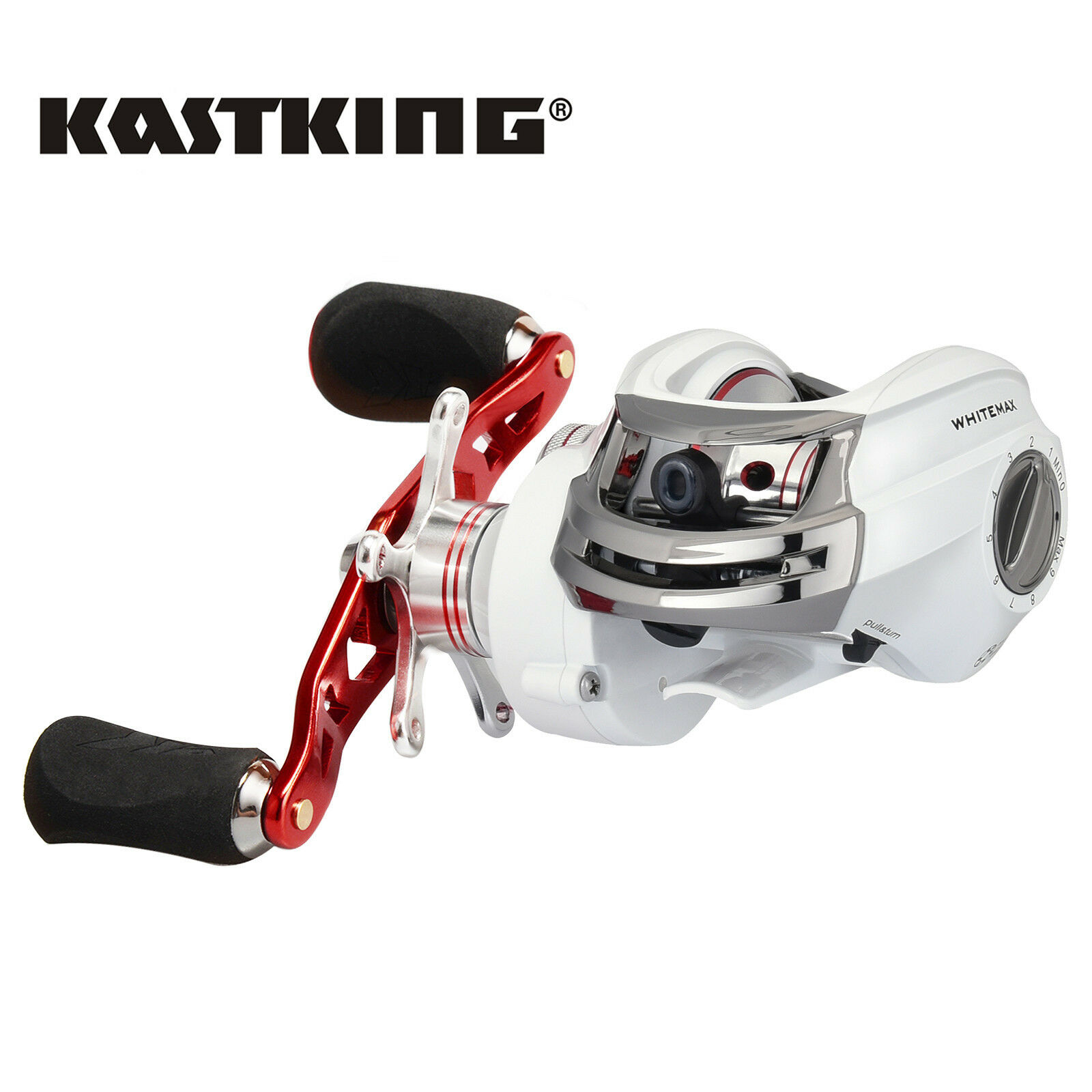 KastKing WhiteMax Baitcasting Reel Low Profile Freshwate Baitcaster  - Right Hand  high-quality merchandise and convenient, honest service
