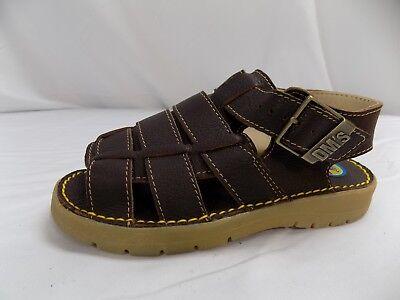 New Dr Doc Martens Fisherman Sandals Peanut 6480 Leather UK 1 US Boys 2 Girls 3