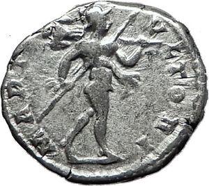 CARACALLA-197AD-Rome-Authentic-Genuine-Silver-Ancient-Roman-Coin-Mars-i60447
