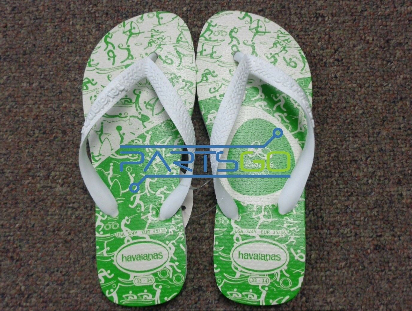 cdd62433c Details about Havaianas Rio 2016 Limited Edition Flip Flops Size USA 3 4Y  New! Original!  USA