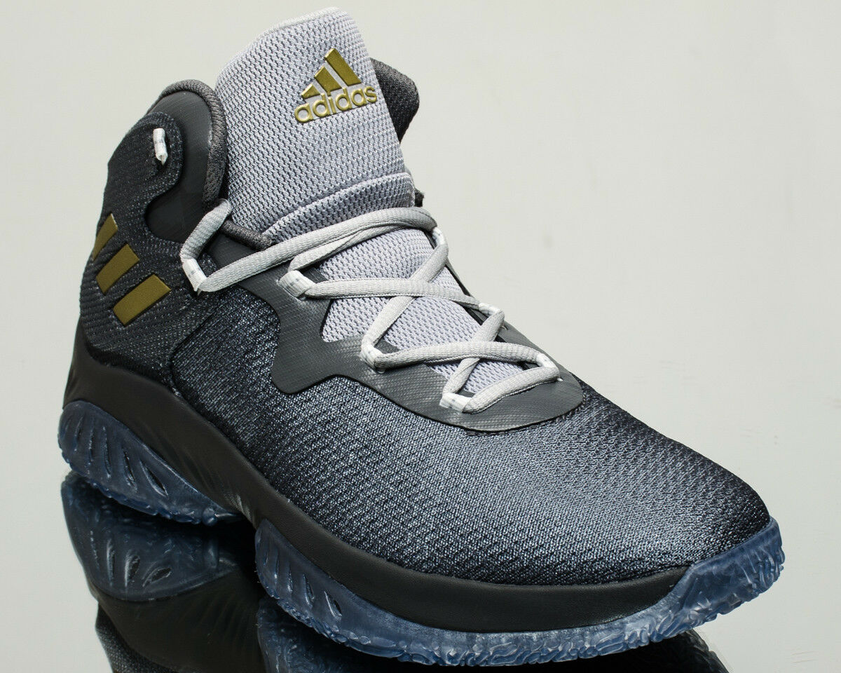 adidas Explosive Bounce Homme basketball  chaussures  NEW Gris Doré BY4466