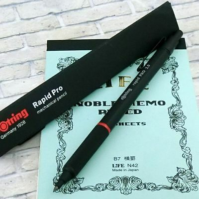 Rotring 300A 2mm core holder for drafting Drop type Mechanical Pencil Black Body