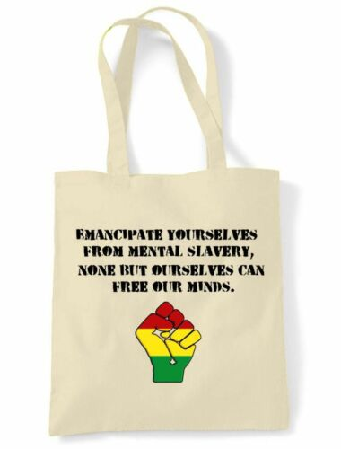 EMANCIPATE YOURSELVES TOTE SHOLDER BAG Reggae Rasta Bob Marley Redemption Song