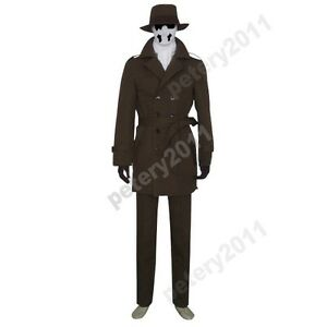 custom made watchmen rorschach cosplay costume halloween clothing halloween ebay. Black Bedroom Furniture Sets. Home Design Ideas