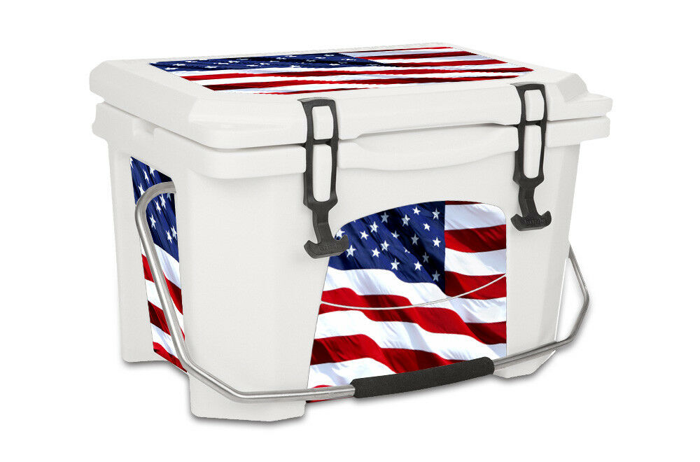 USATuff Decal Wrap L+I Kit fits Grizzly 20qt Cooler USA Stars color