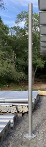 Vintage Aluminum Street Light Pole 10ft Tall Modern Urban