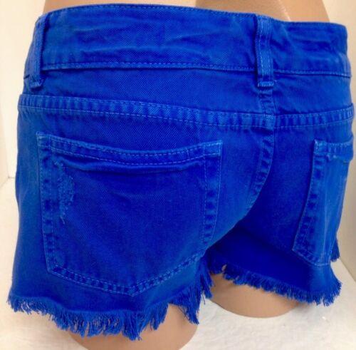 taglia Shorts 27 a righe Mar frange blu con tasche Car orlo a 5XxwR6YAq