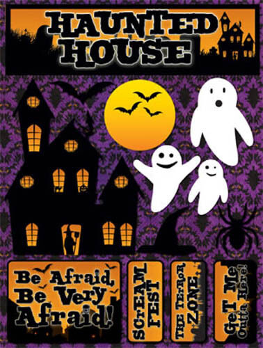 Reminisce HALLOWEEN HAUNTED HOUSE Dimensional Stickers Scrapbooking Papercrafts