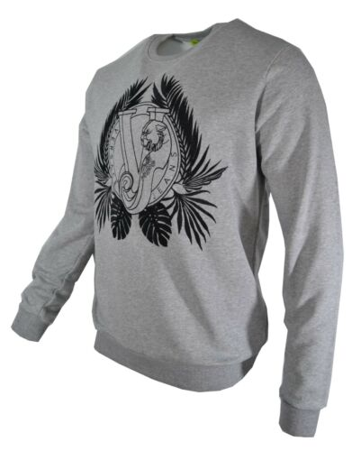 Jean gris et Bnwt Versace Pull Sweatshirt Tiger Broderie Vj noir Rare Logo m8nNvw0