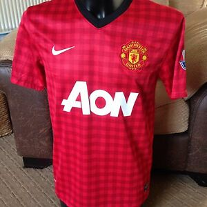 quality design ae189 23938 Details about Manchester United Football Shirt / Top Home Man Utd 2013/14  Mens Medium DAD GIFT