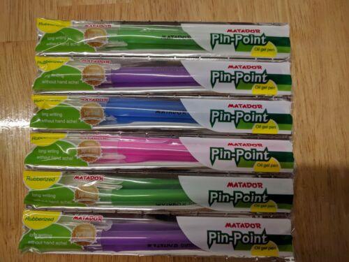 Matador Pin point oil gel  pens 6pk