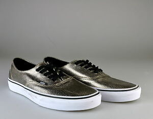 NEW Vans Authentic Decon Metallic Silver Black Shoes Sneakers Sz 9.5 ... e96f0e0c0