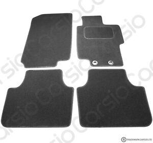 CLASSIC Tailored Black Car Floor Mats Manual 2-Clips HONDA ACCORD 2004-2008