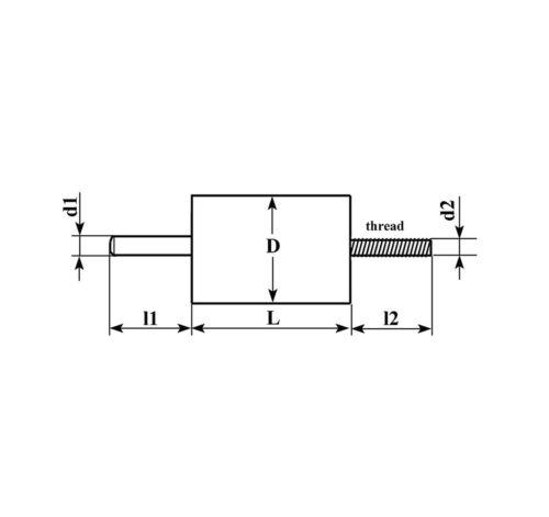 K15-4 1000pF 40kV High Voltage Doorknob Capacitors USSR NOS Lot of 1 piece