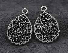Lot 10//40//200pcs Tibetan Silver exquisite Flower Jewelry Charms Pendant 21x15mm