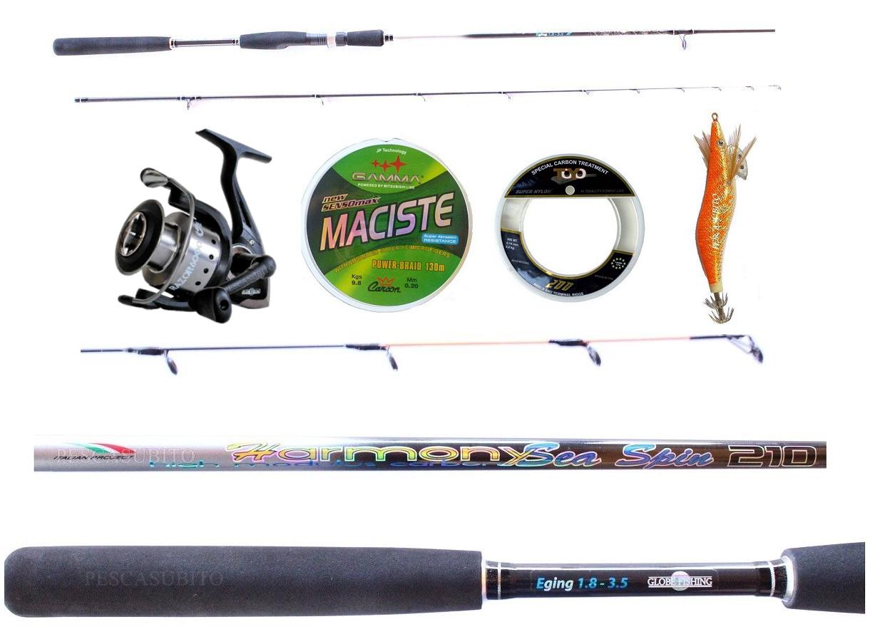 Kit Pesca tuttia Seppia Canna Harmony 2.70Mt  Mulinello Razor  Treccia accessori