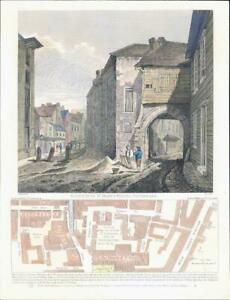 1811-LONDON-Gateway-of-St-Mary-039-s-Priory-Southwark-Borough-High-Street-85LI