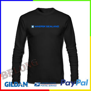 Details about Maersk Sealand Ship Logo New Mens Tshirt Tee Long Sleeve