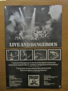 THIN-LIZZY-LIVE-amp-DANGEROUS-2-x-FULL-PAGE-MAGAZINE-AD-CUTTINGS-POSTERS-1978